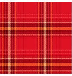 Seamless red checked pattern vector