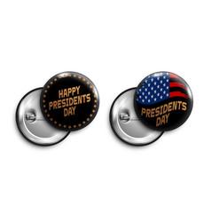 set happy presidents day black vector image