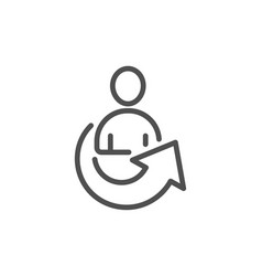 Share line icon business management sign vector