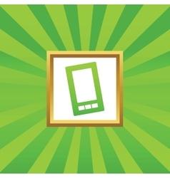 Smartphone picture icon vector image
