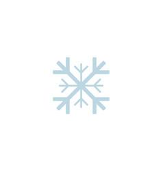snowflake icon template christmas snowflake on vector image