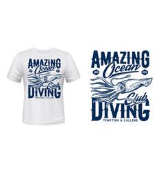 squid t-shirt apparel custom design vector image