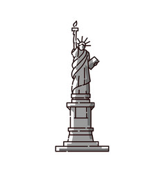 statue liberty icon - famous usa landmark vector image