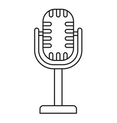 Studio microphone icon outline style vector