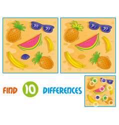 sumer pattern find 10 differences vector image