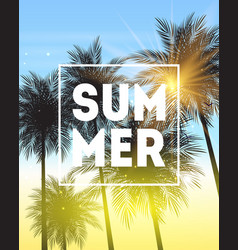 Summer natural placard poster flyer or vector