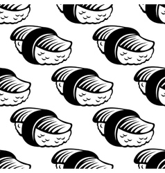 sushi seamless pattern in sketch style vector image