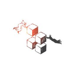 teamwork success coworking partnership vector image