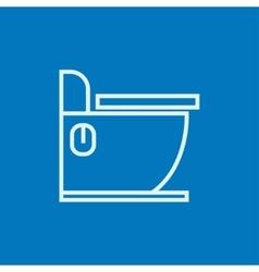 Toilet line icon vector image