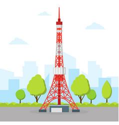 Tokyo tv tower vector