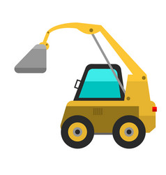 Type agricultural vehicle or harvester machine vector