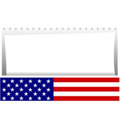 usa flag box with paper border vector image