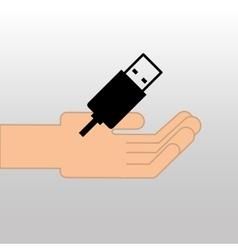 USB drive memory icon graphic vector