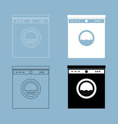 washing machine the black and white color icon vector image