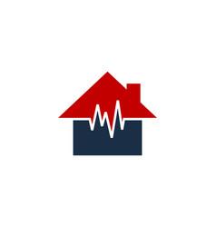 wave house logo icon design vector image