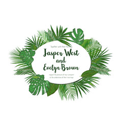 wedding invitation floral invite card design with vector image