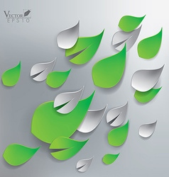 Abstract green leaves background vector image vector image