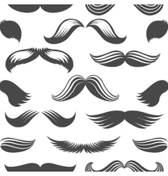 Black and white moustaches seamless pattern vector image