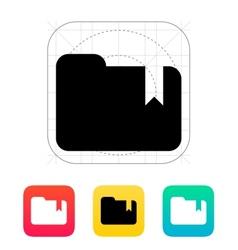 Folder bookmark icon vector image vector image