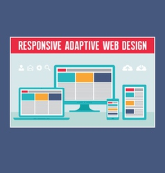 Responsive Adaptive Web Design vector image