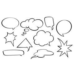 Speech bubbles set vector