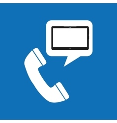 technology telephone call social media design vector image