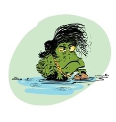 The evolution of men amphibian vector image