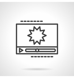 Black line icon for video effects vector image vector image