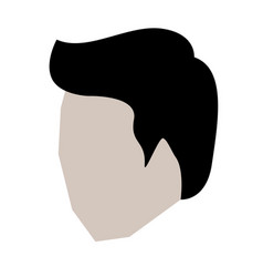 man head faceless with short hair in white vector image vector image