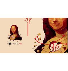 Mona lisa art vector