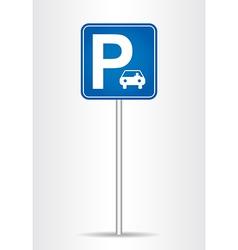 Parking traffic sign vector