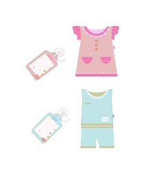 collection of baby and children clothes vector image vector image