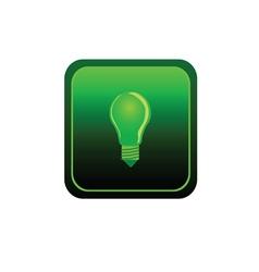 eco bulb sticker green vector image vector image