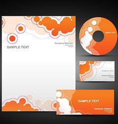 orange template set vector image