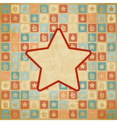 Retro Christmas Star Background vector image
