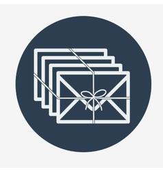 Single flat mail icon vector image vector image