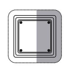 Sticker silhouette square shape traffic sign icon vector