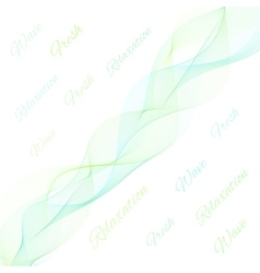 Abstract light color wave vector image vector image