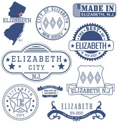 Elizabeth city New Jersey stamps and seals vector image