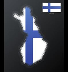 Finland modern map vector image vector image