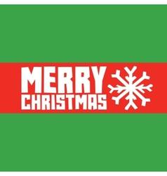 Merry christmas snowflake postcard vector image vector image