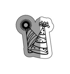 party hat celebration icon vector image