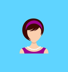 Young woman icon vector image