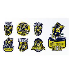 a set logos emblems stickers badges a vector image