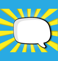 abstract blank speech bubble comic book vector image