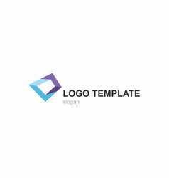 abstract logo template business and corporate vector image