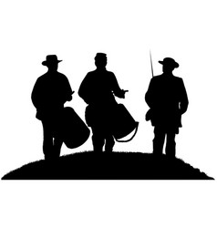 American civil war drummer boys and soldier vector