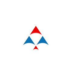arrow up triangle company logo vector image