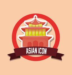 asian icon design vector image