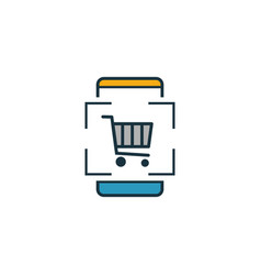 Augmented reality shopping icon outline filled vector